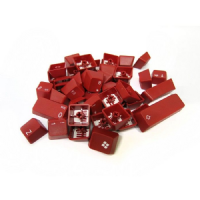 Tai-Hao ABS Double Shot Keycaps Red White Legends UK